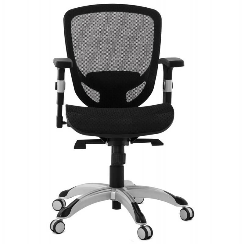 Fauteuil de bureau design et moderne ergonomique AXEL en tissu (noir) - image 28313