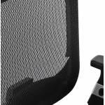 Fauteuil de bureau design et moderne ergonomique AXEL en tissu (noir)