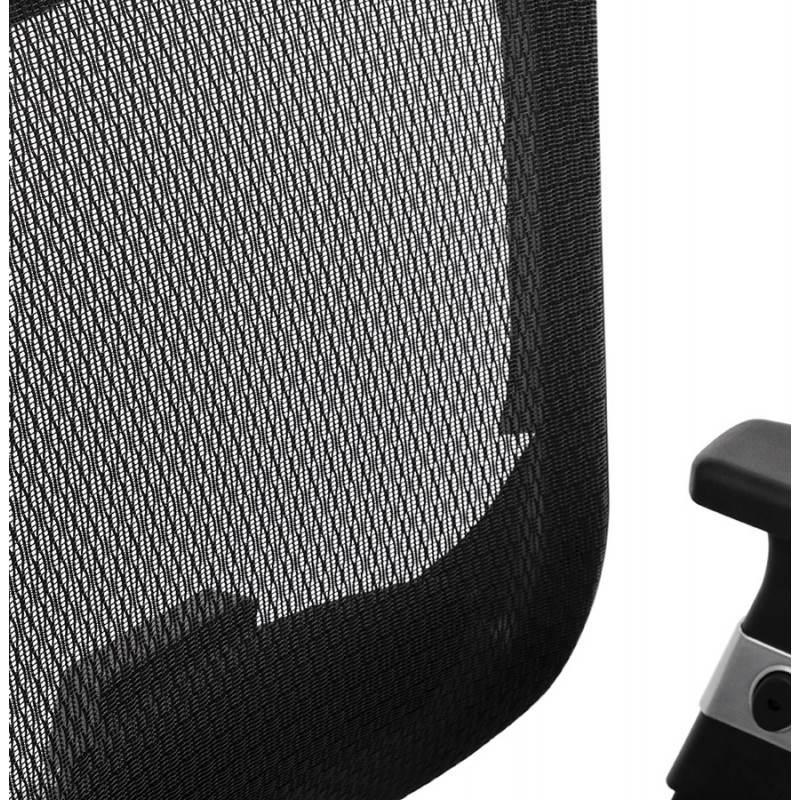 Fauteuil de bureau design et moderne ergonomique AXEL en tissu (noir) - image 28316