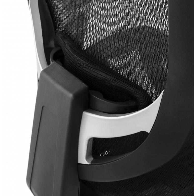 Fauteuil de bureau design et moderne ergonomique AXEL en tissu (noir) - image 28320