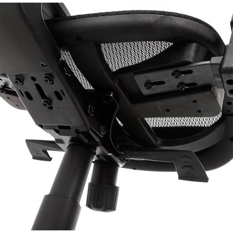 Fauteuil de bureau design et moderne ergonomique AXEL en tissu (noir) - image 28323