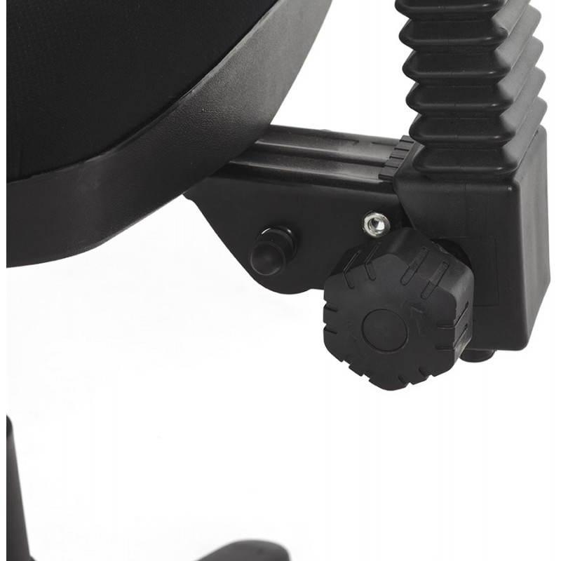 Chaise de bureau ergonomique à roulettes BELOU en tissu (noir) - image 28341