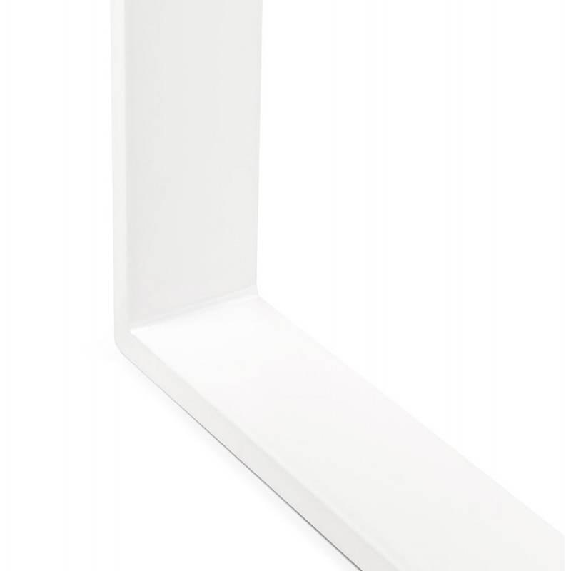 Bureau droit design ANTOUL en bois et métal (blanc brillant) - image 28352
