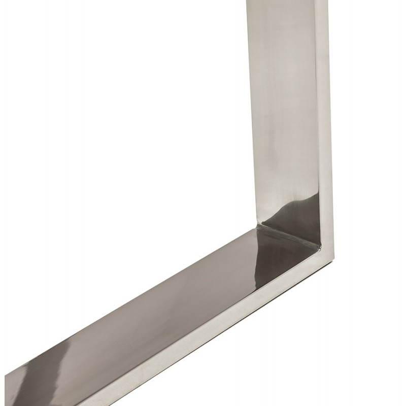 Bureau droit table design et contemporain INGRID en verre et acier chromé (transparent) - image 28365