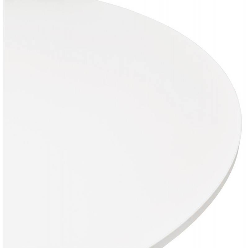 Table de bureau ou repas design ronde ASTA en bois et métal peint (Ø 120 cm) (blanc) - image 28374