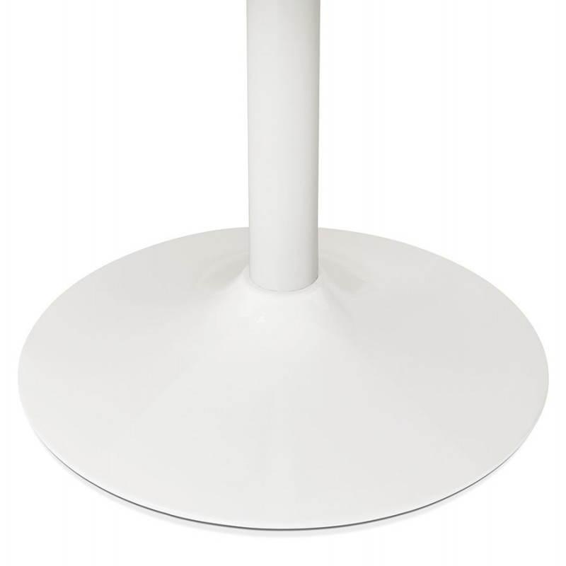 Table de bureau ou repas design ronde ASTA en bois et métal peint (Ø 120 cm) (blanc) - image 28378