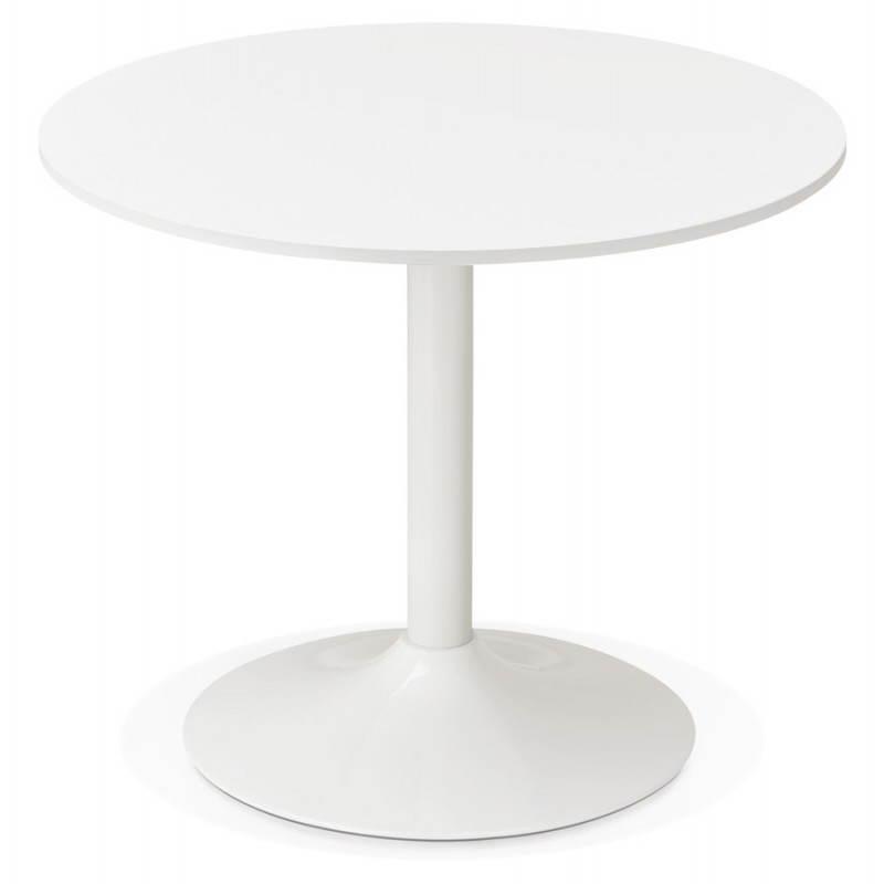 Dining table or desk round design scandinavian nils wood for Bureau 90 cm de large