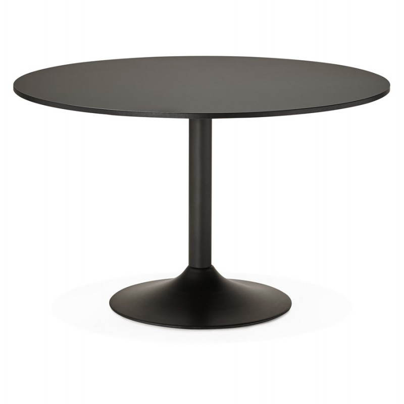 Table de bureau ou repas design ronde ASTA en bois et métal peint (Ø 120 cm) (noir) - image 28392