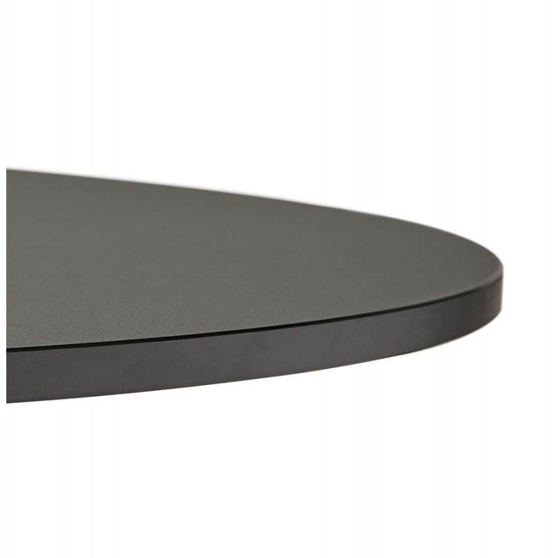 Table de bureau ou repas design ronde ASTA en bois et métal peint (Ø 120 cm) (noir) - image 28397