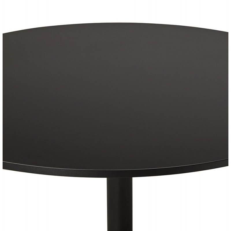 Mesa de comedor o escritorio diseño madera NILS y metal pintado (O 90 cm) (negro) - image 28406