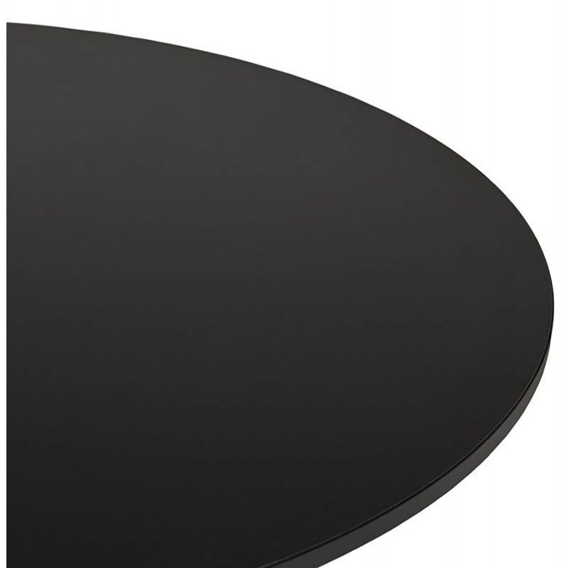 Table de bureau ou repas design ronde ASTA en bois et métal chromé (Ø 120 cm) (noir) - image 28438