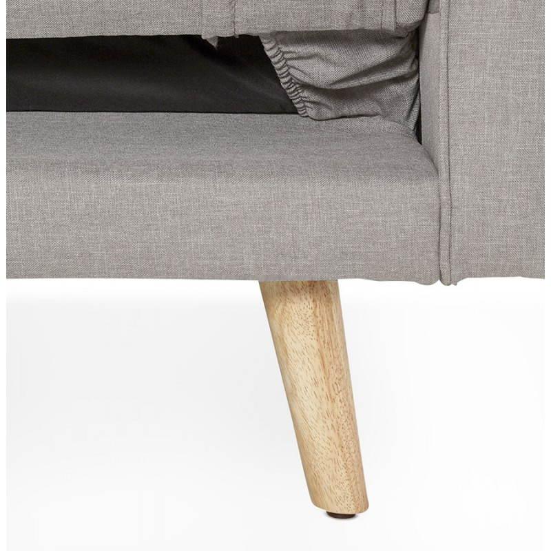 Canapé convertible scandinave capitonné 3 places URSULA en tissu (gris) - image 28468