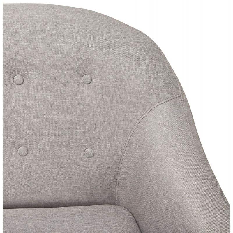 Canapé fixe scandinave capitonné 3 places LUCIA en tissu (gris) - image 28489