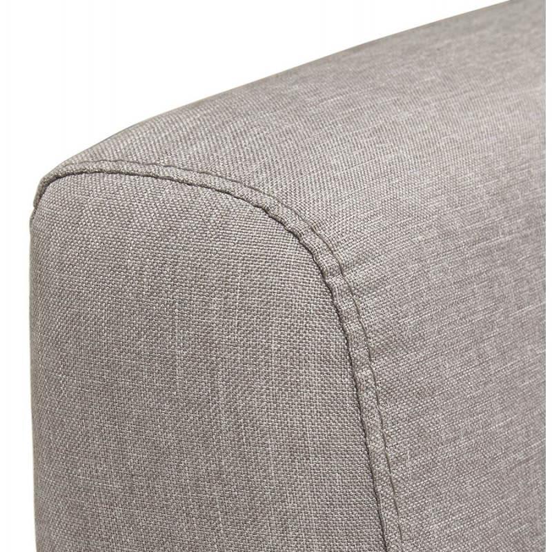 Canapé fixe scandinave capitonné 3 places LUCIA en tissu (gris) - image 28492