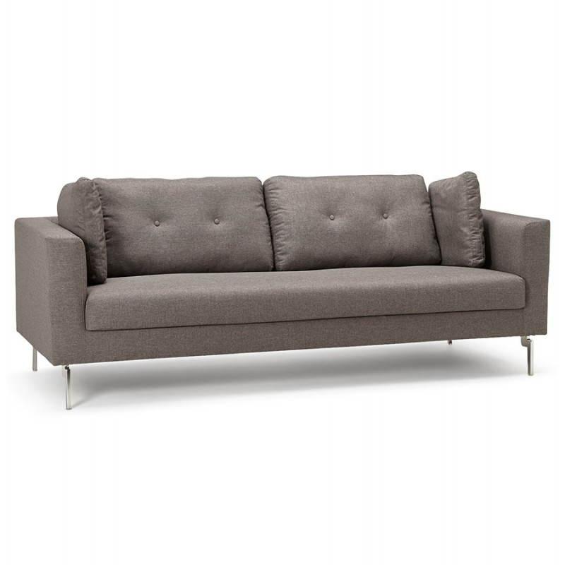 Moderno sofá fijo 3 lugares a tela de IRINA (gris oscuro) - image 28504