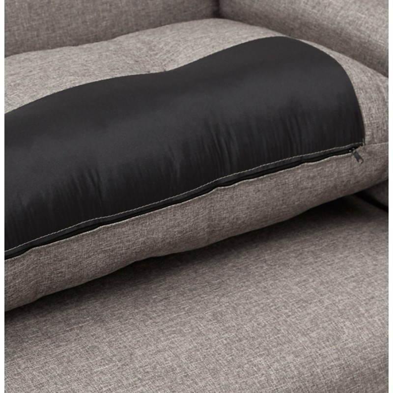 Moderno sofá fijo 3 lugares a tela de IRINA (gris oscuro) - image 28512