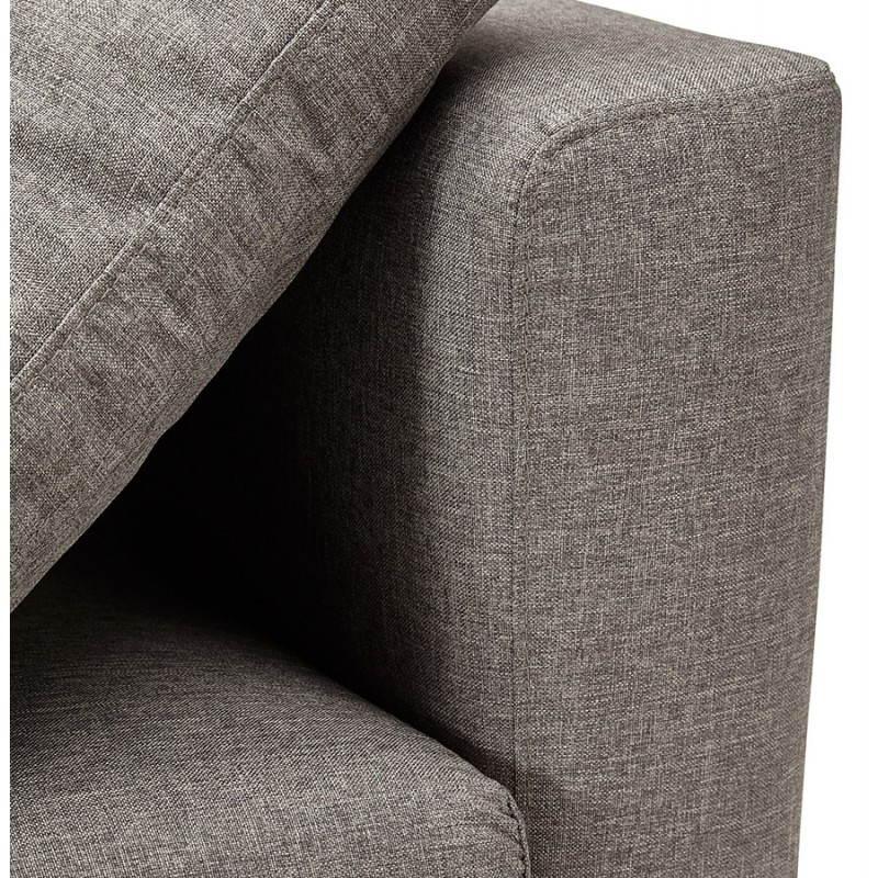 Moderno sofá fijo 3 lugares a tela de IRINA (gris oscuro) - image 28514