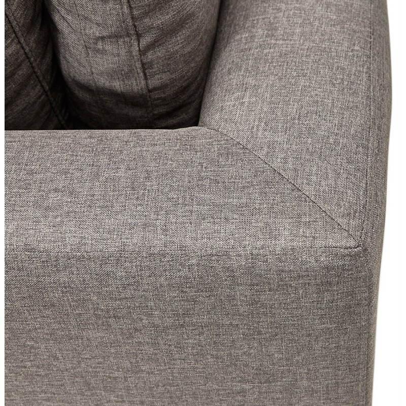 Moderno sofá fijo 3 lugares a tela de IRINA (gris oscuro) - image 28515