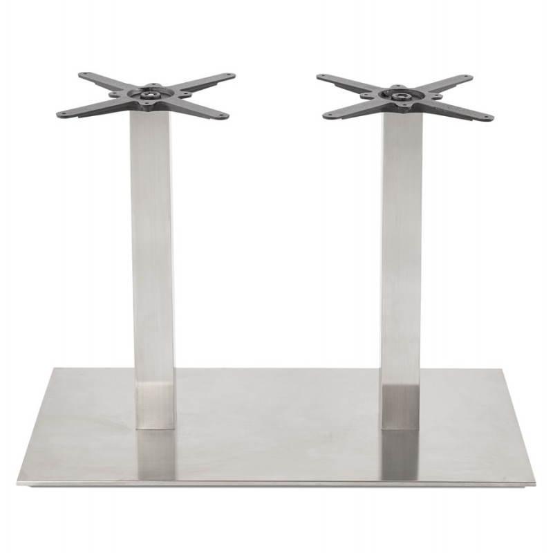 Double pied de table rambou en acier bross 50cmx100cmx73cm - Pied de table hauteur 100 cm ...
