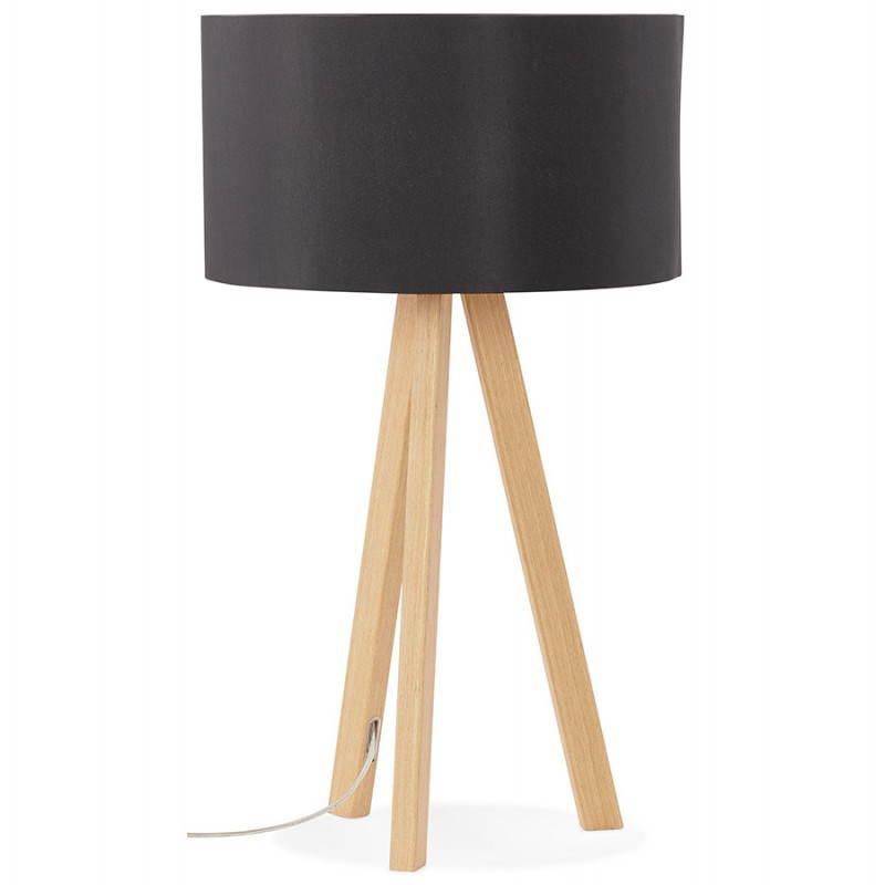 Lampe de table sur trépied scandinave TRANI MINI  (noir) - image 28536