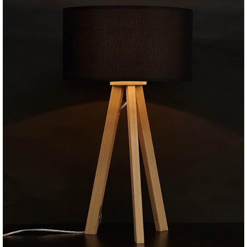 Lampe de table sur trépied scandinave TRANI MINI  (noir) - image 28548