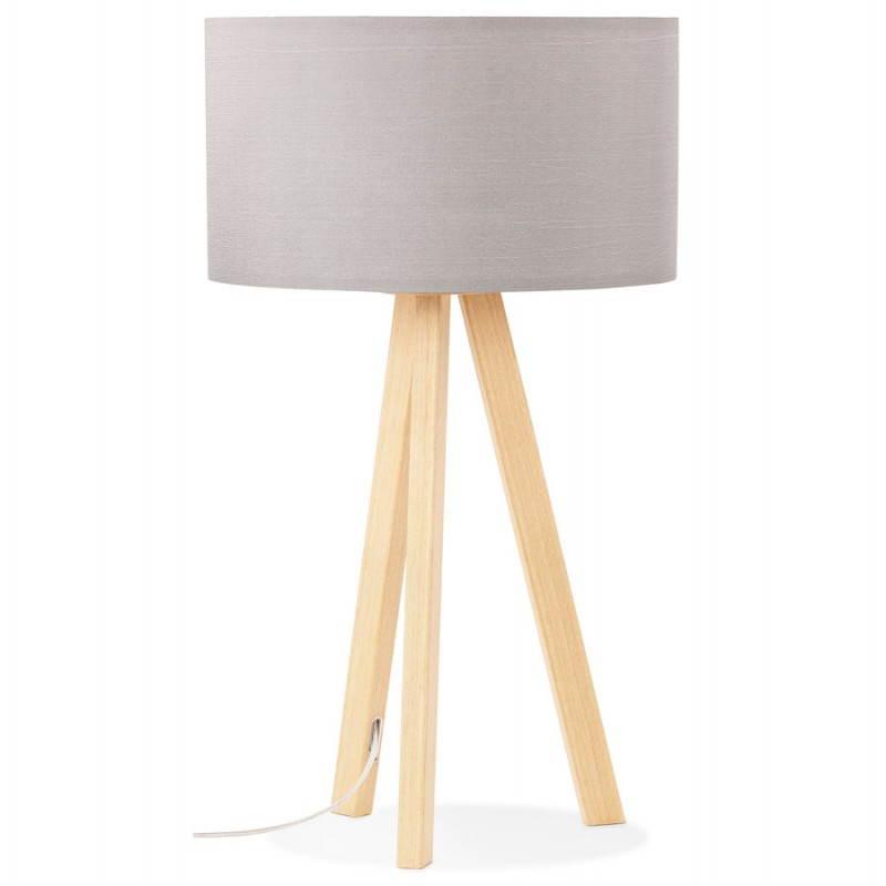 Lampe de table TRANI MINI sur trépied avec abat jour (gris) - image 28551