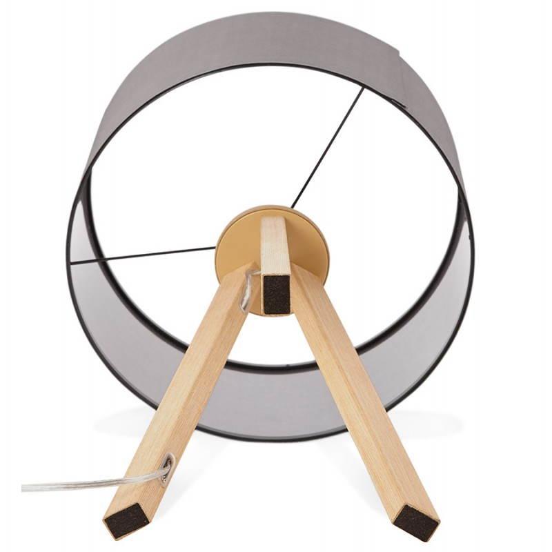 Lampe de table TRANI MINI sur trépied avec abat jour (gris) - image 28559