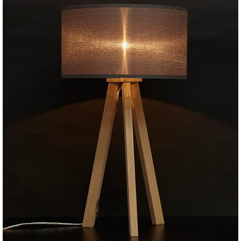 Lampe de table TRANI MINI sur trépied avec abat jour (gris) - image 28562