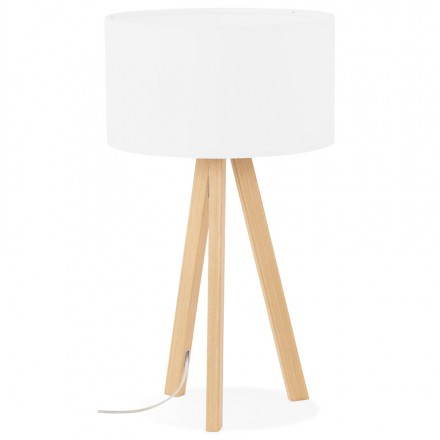 Lampada da tavolo su treppiede scandinavo TRANI MINI (bianco)
