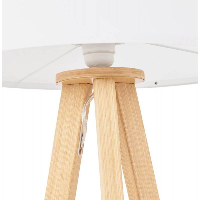 Lampe de table sur trépied scandinave TRANI MINI  (blanc) - image 28572