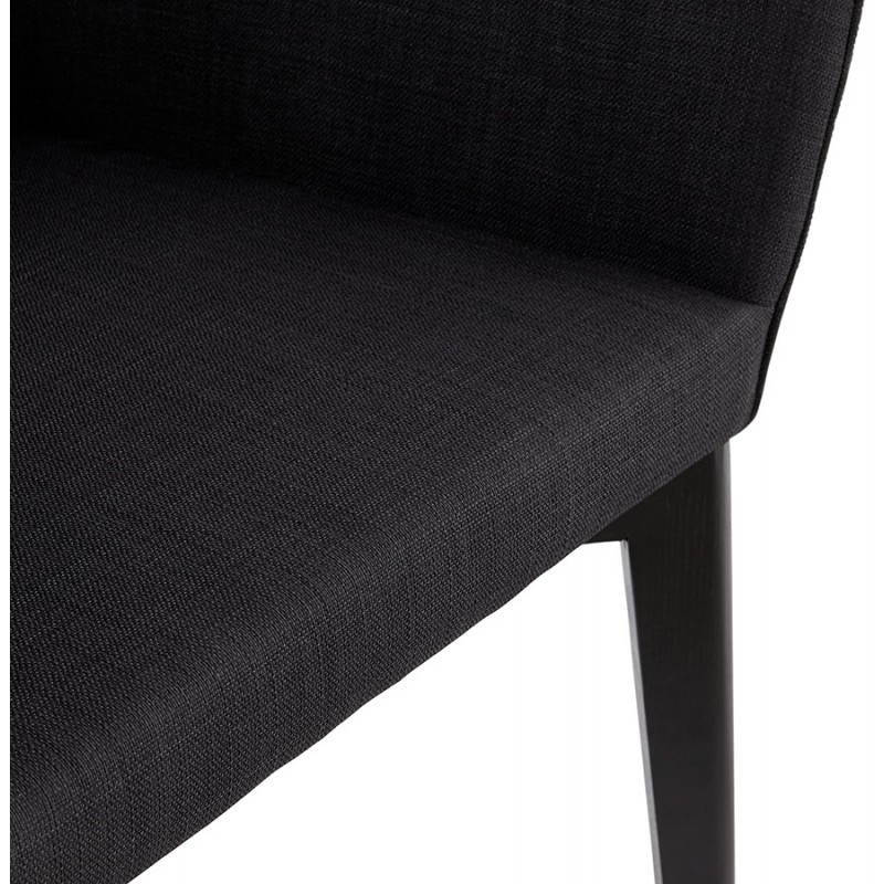 Design and modern Chair with armrests ANTONELA (black) fabric - image 28605