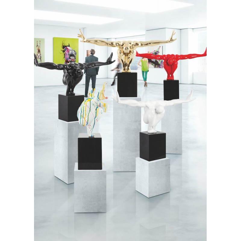 Statuette forme athlète ROMEO en fibre de verre (noir) - image 28619