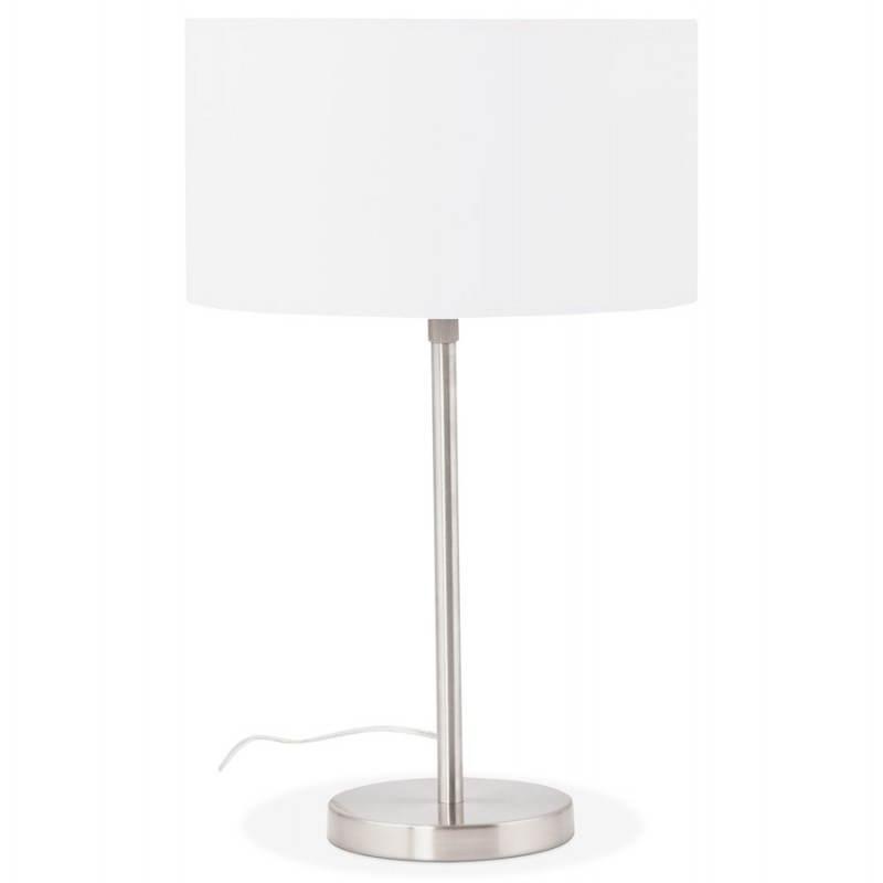 Lampe de table design réglable en hauteur LATIUM en tissu (blanc) - image 28682