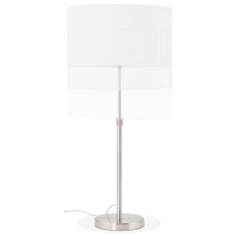 Lampe de table design réglable en hauteur LATIUM en tissu (blanc) - image 28684
