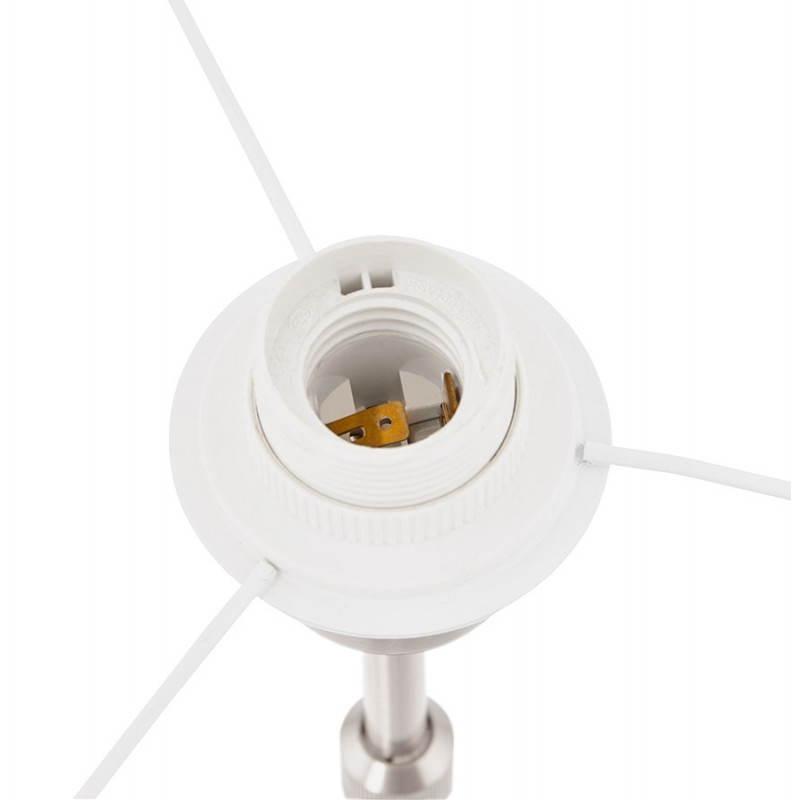 Lampe de table design réglable en hauteur LATIUM en tissu (blanc) - image 28689