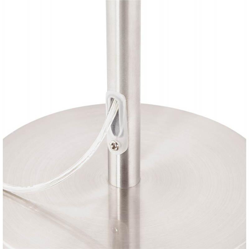 Lampe de table design réglable en hauteur LATIUM en tissu (blanc) - image 28692