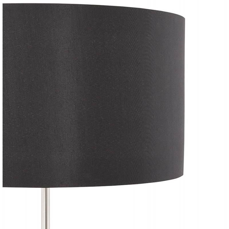 Lampe de table design réglable en hauteur LATIUM en tissu (noir) - image 28710