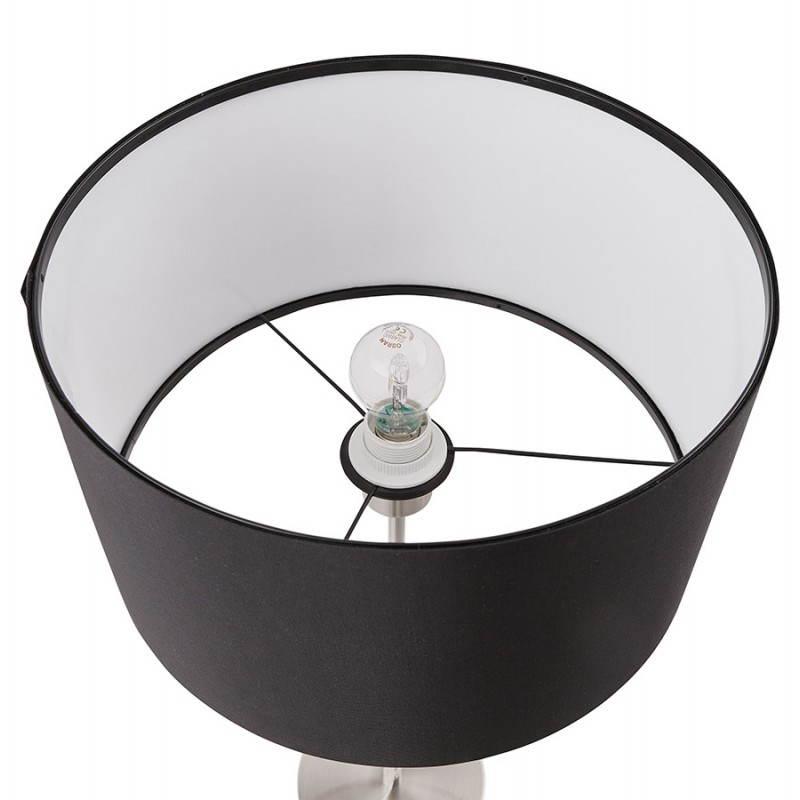 Lampe de table design réglable en hauteur LATIUM en tissu (noir) - image 28712