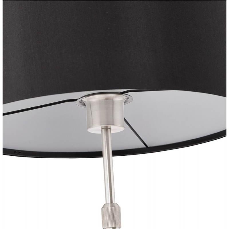Lampe de table design réglable en hauteur LATIUM en tissu (noir) - image 28714