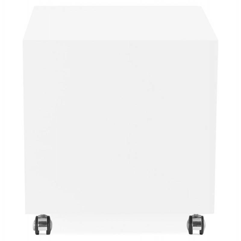 Caisson de bureau 2 tiroirs FOREST en bois (blanc laqué) - image 28737