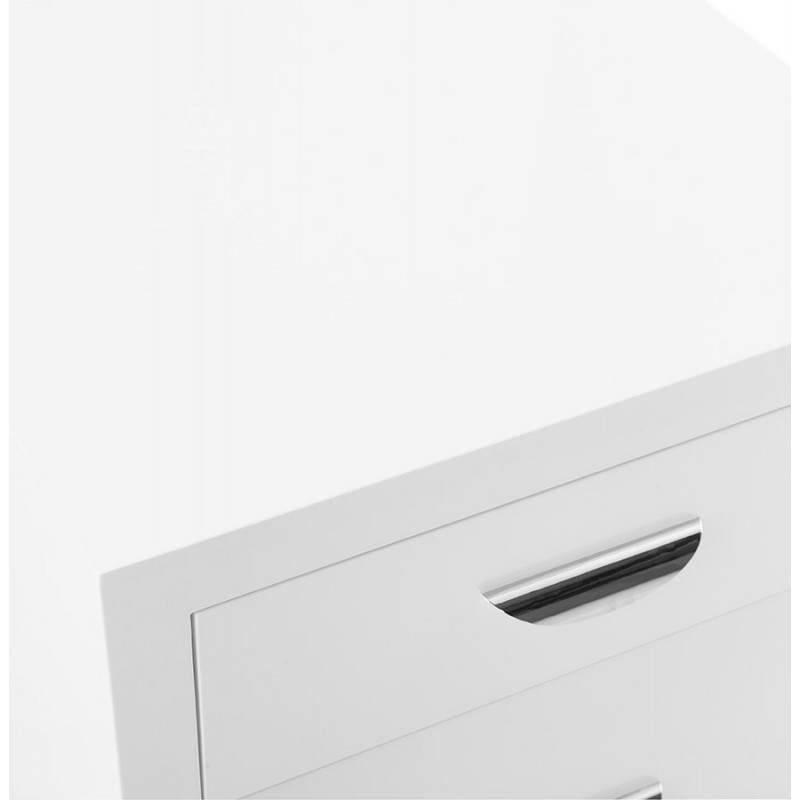 Caisson de bureau 2 tiroirs FOREST en bois (blanc laqué) - image 28740