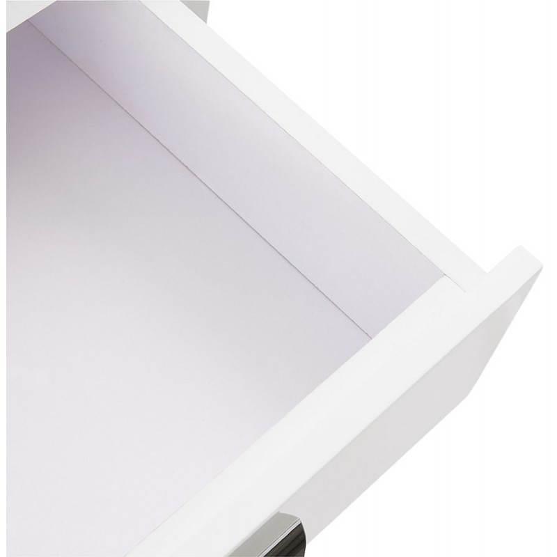 Caisson de bureau 2 tiroirs FOREST en bois (blanc laqué) - image 28742