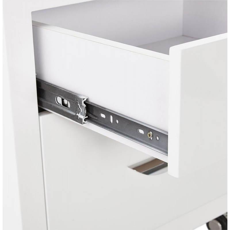 Caisson de bureau 2 tiroirs FOREST en bois (blanc laqué) - image 28743