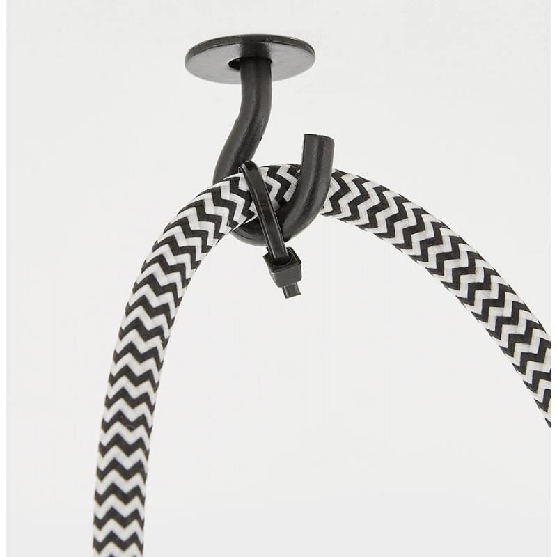 Suspension 9 douilles moderne GRAPPE (noir) - image 28767