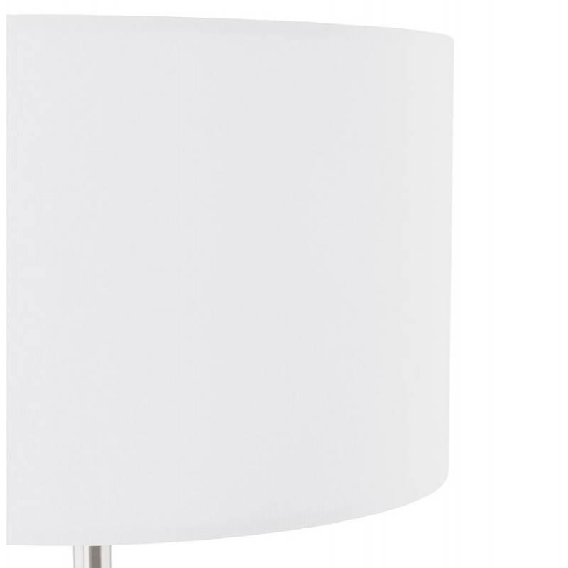 Lampe sur pied design réglable en hauteur LATIUM en tissu (blanc) - image 28798