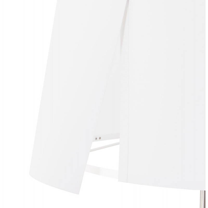 Lampe sur pied design réglable en hauteur LATIUM en tissu (blanc) - image 28799