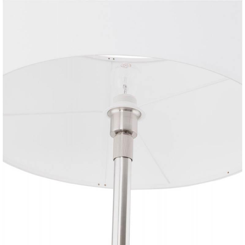 Lampe sur pied design réglable en hauteur LATIUM en tissu (blanc) - image 28803