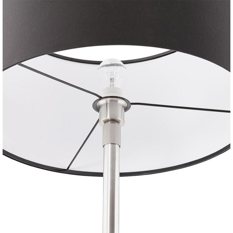 Lampe sur pied design réglable en hauteur LATIUM en tissu (noir) - image 28965