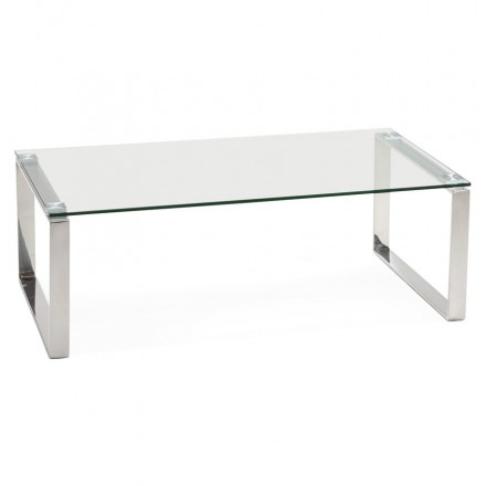Glass coffee table rectangular design BETTY (transparent)