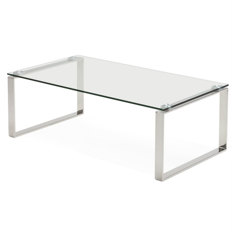 Table basse rectangulaire design betty en verre transparent - Table basse rectangulaire en verre ...